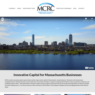 Long Term Debt, Mezzanine & Late Stage Venture Capital - Massachussetts