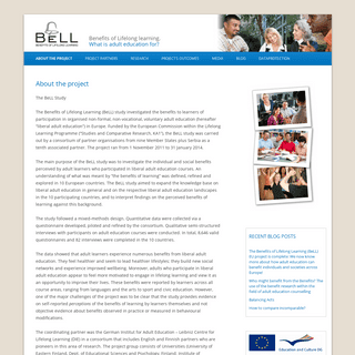 BeLL Project - Benefits of Lifelong Learning