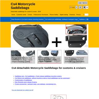 Cs4 detachable Motorcycle Saddlebags for custom & cruiser