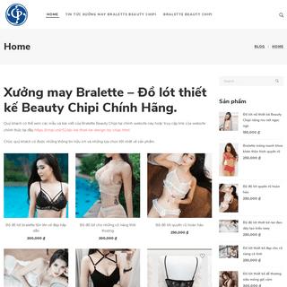 Xưởng may Bralette đồ lót thiết kế chính hãng Beauty Chipi