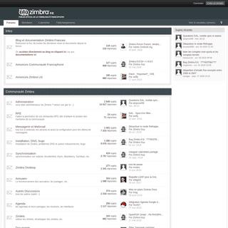 Zimbra -- Forum officiel de la communauté francophone