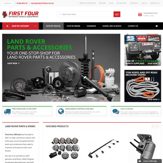 Land Rover Parts & Spares from First Four Offroad