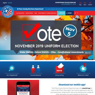 El Paso County, TX Elections - El Paso County Elections Department