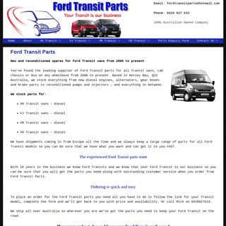 Ford Transit Parts – Your Transit is Our Business