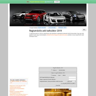 ArchiveBay.com - regisztraciosado.hu - Regisztrációs adó kalkulátor 2019 - Regisztrációsadó kalkulátor 2019