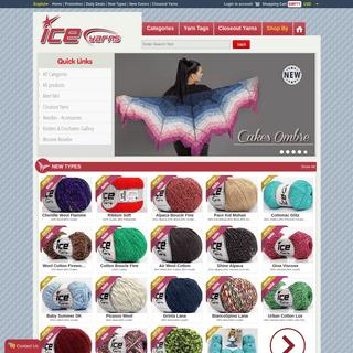 Ice Yarns Online Yarn Store - knitting yarn, discount yarn, yarn online store,