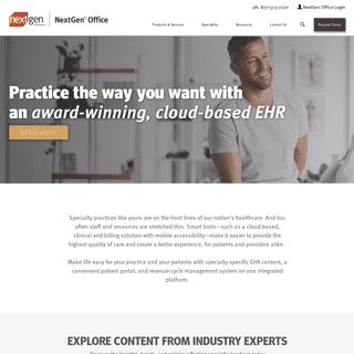 EHR for Small Independent Practices - NextGen Office