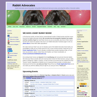 Rabbit Advocates - Rabbit Advocates serves the greater metropolitan Portland and Vancouver areas, promoting the welfare of domes