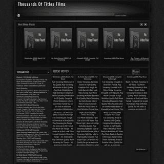 Thousands Of Titles Films - Thousands Of Titles Films