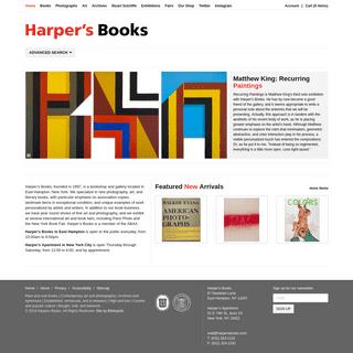 Harper's Books - Rare Book Gallery, Art, Photography, Design and Modern Literature