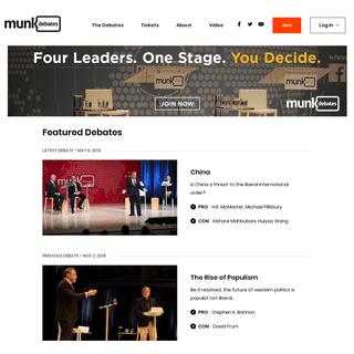 ArchiveBay.com - munkdebates.com - Munk Debates - Munk Debates