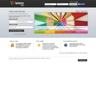 Créer un site web, c'est facile et gratuit avec Wikeo.