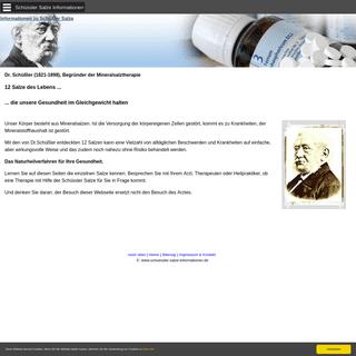 Schüssler Salze - Informationseite zu Schüßler Salzen