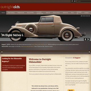 107 Years of Oldsmobile - - Outright Olds