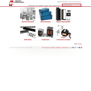 Electrical & Electronic Enclosures, Cabinets & Racks, Outlet Strips and Electronic Transformers - Hammond Mfg.