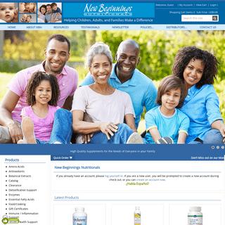 New Beginnings Nutritionals - New Beginnings Nutritionals
