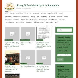 "ArchiveBay.com - librarykvkmm2014.wordpress.com - Library @ Kendriya Vidyalaya Khammam – ""Libraries are our friends."""