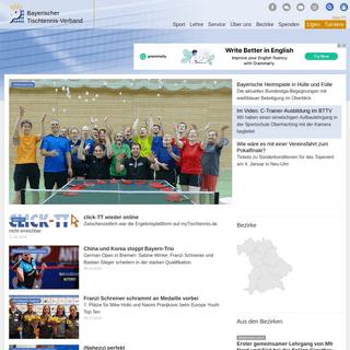 Bayerischer Tischtennis-Verband-bttv.de