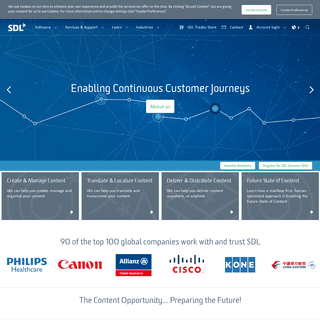 SDL- Language Translation & Content Management Company