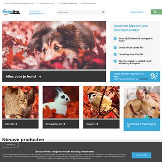 Discount4Pets - Je online dierenwinkel