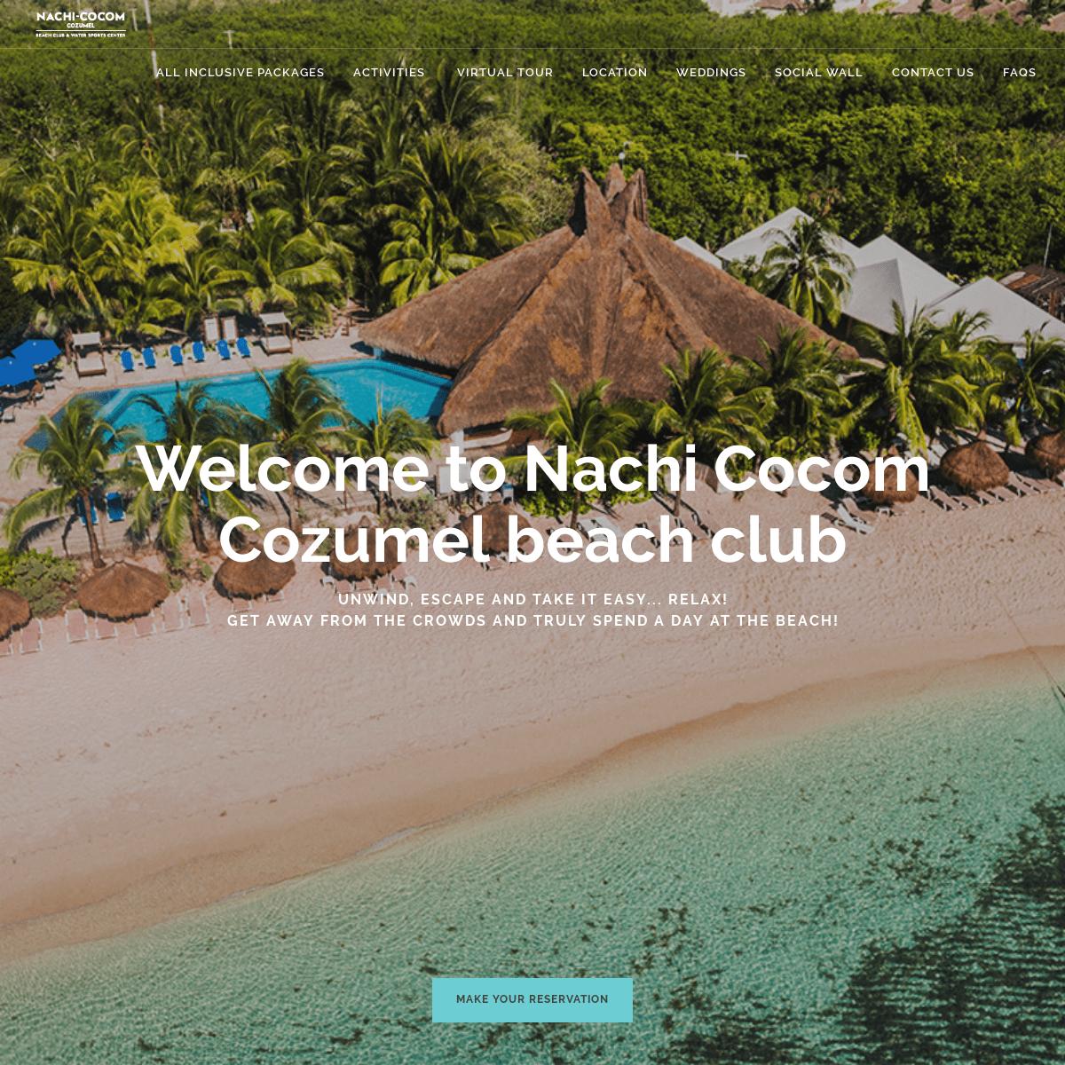 Welcome to Nachi Cocom Cozumel beach club