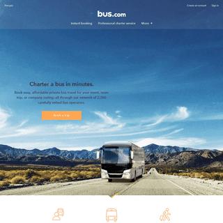 Bus.com - Bus Rentals - Rent a Charter Bus for Your Event