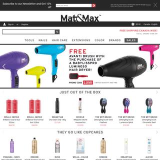 ArchiveBay.com - matandmax.com - Shop hair care, nail polish, hair styling tools & more. - Mat&Max CA