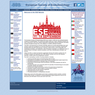 ArchiveBay.com - e-s-e.eu - Welcome to the European Society of Endodontology