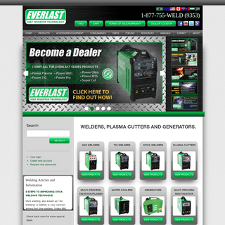 Everlast Inverter Welders Equipment - Welding Supply Company - Official Website