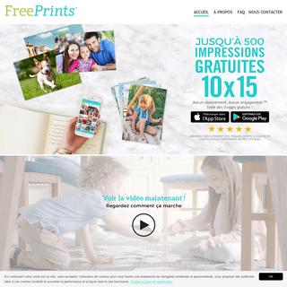 FreePrints application pour iPhone et Android
