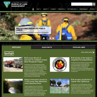 Bureau of Land Management - U.S. Department of the Interior
