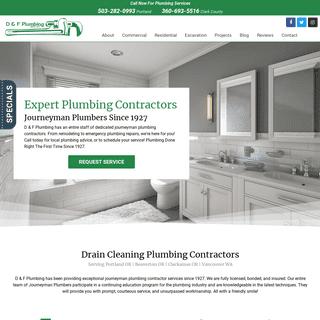 Journeyman Plumbing Contractors in Portland OR & Vancouver WA