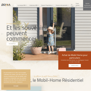 Constructeur de Mobil-Home - vente professionnel et particulier - IRM