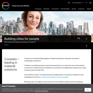 Covestro – A leader in polymer solutions