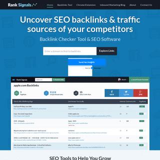 Backlink Checker Tool & SEO Software by Rank Signals