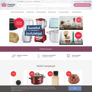 Keittiö- ja leivontatarvikekauppasi netissä -Makujakauppa