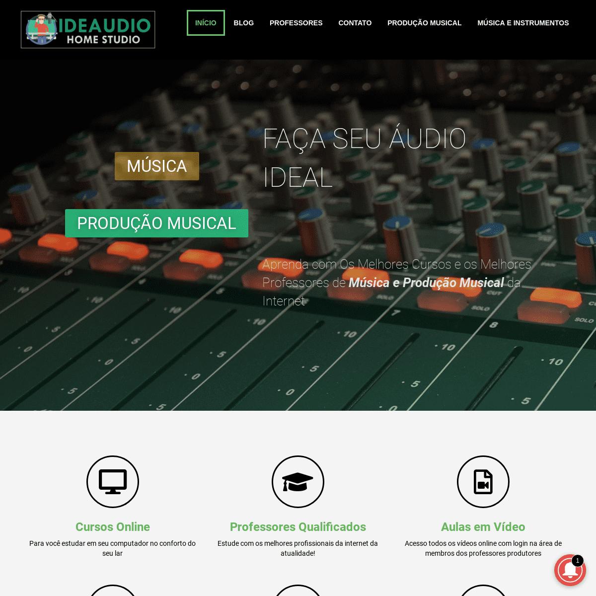 Ideaudio Home Studio – Produção de Áudio em Home Studio
