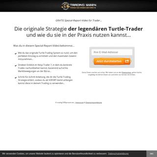 Die 200 Millionen Dollar - Turtle Trader Strategie - Trading 1000-