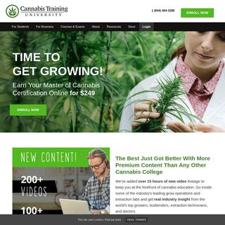 Start Your Career In The Marijuana Industry - Cannabis Training University