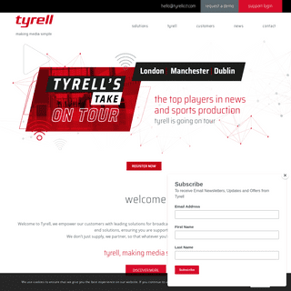 home - tyrell Tyrell, we're experts at making media simple
