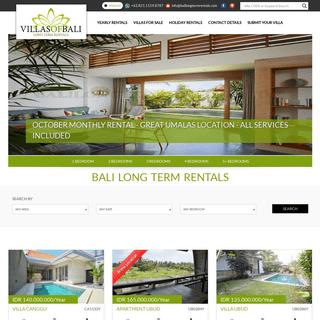 Bali Long Term Villa Rental, Yearly Rental Villas Bali