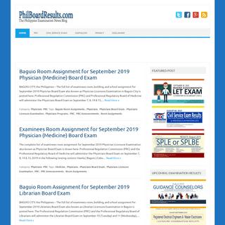 PhilBoardResults - The Philippine Examination News Blog
