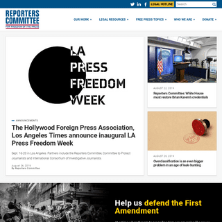 ArchiveBay.com - rcfp.org - The Reporters Committee for Freedom of the Press – A 501(c)(3) nonprofit association dedicated to assisting journalists since