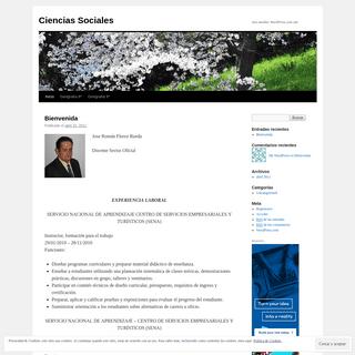 Ciencias Sociales - Just another WordPress.com site