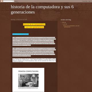 historia de la computadora y sus 6 generaciones