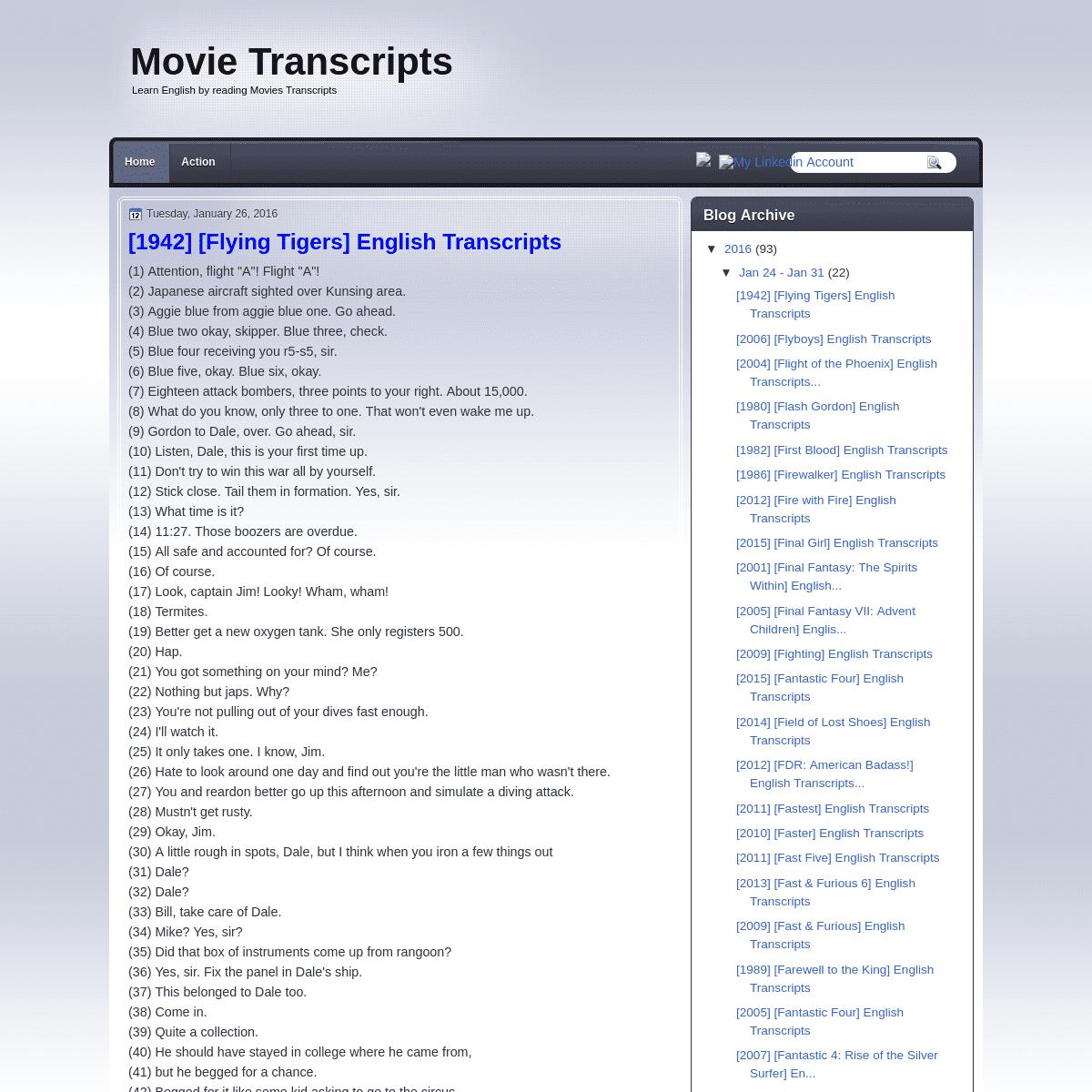 Movie Transcripts