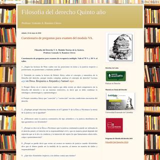 Filosofia del derecho Quinto año