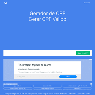 Gerador de CPF - Como Gerar CPF 's Válidos para Testes de Software