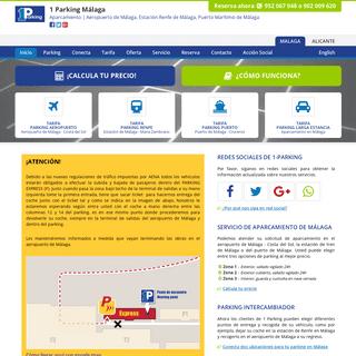 ArchiveBay.com - 1-parking.es - 1 Parking Málaga - Aparcamiento Aeropuerto Málaga, Aparcamiento Renfe Málaga, Aparcamiento Puerto Málaga
