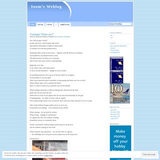 Ioom's Weblog - Just another WordPress.com weblog